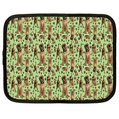 Puppy Dog Pattern Netbook Case (large) by BangZart