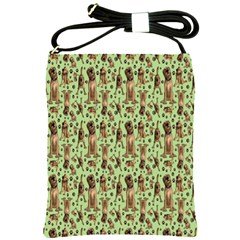Puppy Dog Pattern Shoulder Sling Bags by BangZart