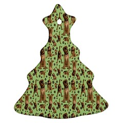 Puppy Dog Pattern Ornament (christmas Tree)  by BangZart