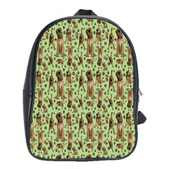 Puppy Dog Pattern School Bags (xl)  by BangZart