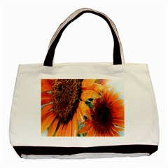 Sunflower Art  Artistic Effect Background Basic Tote Bag by BangZart