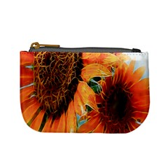 Sunflower Art  Artistic Effect Background Mini Coin Purses by BangZart