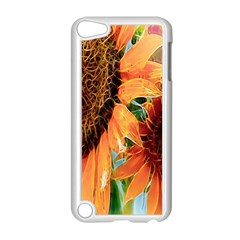 Sunflower Art  Artistic Effect Background Apple Ipod Touch 5 Case (white) by BangZart