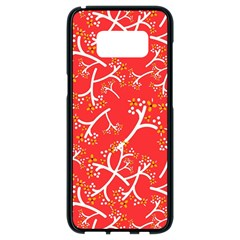 Small Flowers Pattern Floral Seamless Pattern Vector Samsung Galaxy S8 Black Seamless Case