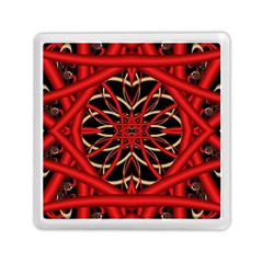Fractal Wallpaper With Red Tangled Wires Memory Card Reader (square)  by BangZart