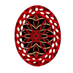 Fractal Wallpaper With Red Tangled Wires Ornament (oval Filigree) by BangZart