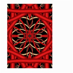 Fractal Wallpaper With Red Tangled Wires Large Garden Flag (two Sides) by BangZart