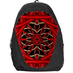 Fractal Wallpaper With Red Tangled Wires Backpack Bag by BangZart