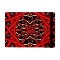 Fractal Wallpaper With Red Tangled Wires Apple Ipad Mini Flip Case by BangZart