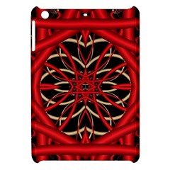 Fractal Wallpaper With Red Tangled Wires Apple Ipad Mini Hardshell Case by BangZart