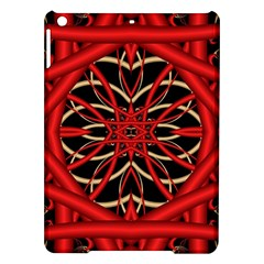 Fractal Wallpaper With Red Tangled Wires Ipad Air Hardshell Cases by BangZart