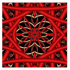 Fractal Wallpaper With Red Tangled Wires Large Satin Scarf (square) by BangZart