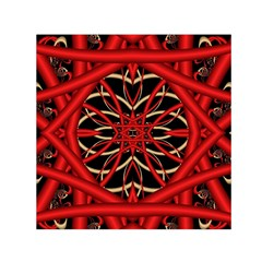 Fractal Wallpaper With Red Tangled Wires Small Satin Scarf (square) by BangZart
