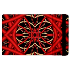 Fractal Wallpaper With Red Tangled Wires Apple Ipad Pro 9 7   Flip Case by BangZart