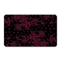 Pink Floral Pattern Background Wallpaper Magnet (rectangular) by BangZart