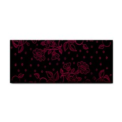 Pink Floral Pattern Background Wallpaper Cosmetic Storage Cases by BangZart