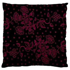 Pink Floral Pattern Background Wallpaper Large Cushion Case (two Sides)