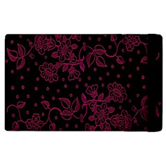 Pink Floral Pattern Background Wallpaper Apple Ipad 3/4 Flip Case by BangZart