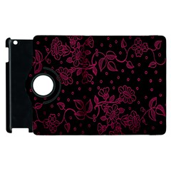 Pink Floral Pattern Background Wallpaper Apple Ipad 3/4 Flip 360 Case by BangZart