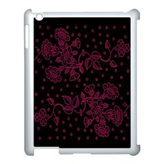 Pink Floral Pattern Background Wallpaper Apple Ipad 3/4 Case (white) by BangZart