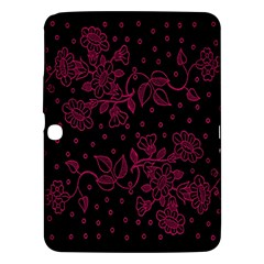 Pink Floral Pattern Background Wallpaper Samsung Galaxy Tab 3 (10 1 ) P5200 Hardshell Case  by BangZart