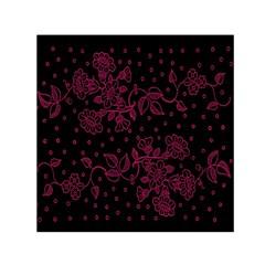Pink Floral Pattern Background Wallpaper Small Satin Scarf (square) by BangZart