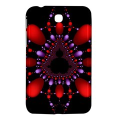 Fractal Red Violet Symmetric Spheres On Black Samsung Galaxy Tab 3 (7 ) P3200 Hardshell Case
