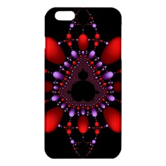 Fractal Red Violet Symmetric Spheres On Black Iphone 6 Plus/6s Plus Tpu Case by BangZart