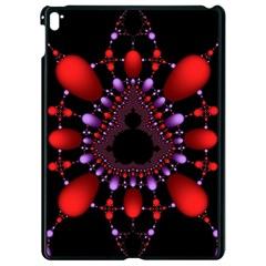 Fractal Red Violet Symmetric Spheres On Black Apple Ipad Pro 9 7   Black Seamless Case by BangZart