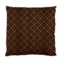 Woven2 Black Marble & Brown Wood (r) Standard Cushion Case (one Side) by trendistuff