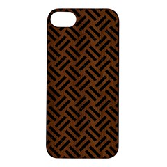 Woven2 Black Marble & Brown Wood (r) Apple Iphone 5s/ Se Hardshell Case by trendistuff