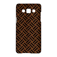 Woven2 Black Marble & Brown Wood (r) Samsung Galaxy A5 Hardshell Case  by trendistuff