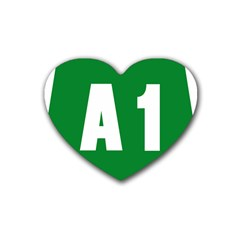 Autostrada A1 Rubber Coaster (heart)  by abbeyz71