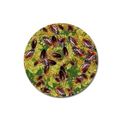 Cockroaches Magnet 3  (round) by SuperPatterns