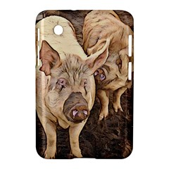 Happy Pigs Samsung Galaxy Tab 2 (7 ) P3100 Hardshell Case  by DeneWestUK