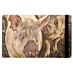 Happy Pigs Apple Ipad Pro 12 9   Flip Case by DeneWestUK