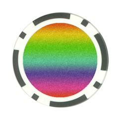 Metallic Rainbow Glitter Texture Poker Chip Card Guard (10 Pack) by paulaoliveiradesign