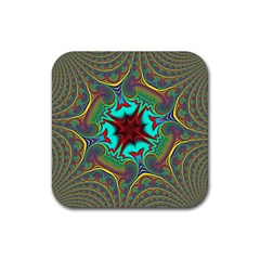 Hot Hot Summer A Rubber Coaster (square)  by MoreColorsinLife