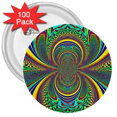 Hot Hot Summer B 3  Buttons (100 Pack)  by MoreColorsinLife