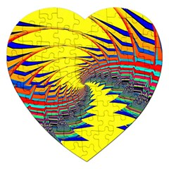 Hot Hot Summer C Jigsaw Puzzle (heart) by MoreColorsinLife