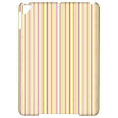 Stripes Pink And Green  Line Pattern Apple Ipad Pro 9 7   Hardshell Case