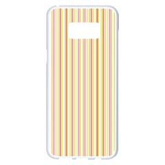 Stripes Pink And Green  Line Pattern Samsung Galaxy S8 Plus White Seamless Case