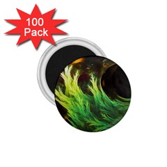 A Seaweed s Deepdream Of Faded Fractal Fall Colors 1 75  Magnets (100 Pack)  by jayaprime