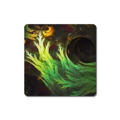 A Seaweed s Deepdream Of Faded Fractal Fall Colors Square Magnet by jayaprime