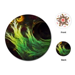 A Seaweed s Deepdream Of Faded Fractal Fall Colors Playing Cards (round)  by jayaprime