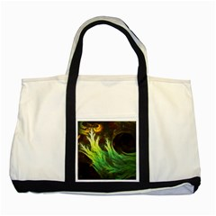 A Seaweed s Deepdream Of Faded Fractal Fall Colors Two Tone Tote Bag by jayaprime