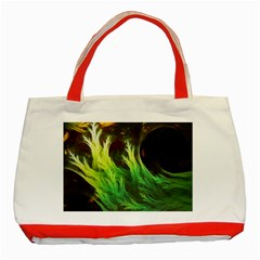A Seaweed s Deepdream Of Faded Fractal Fall Colors Classic Tote Bag (red) by jayaprime