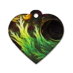A Seaweed s Deepdream Of Faded Fractal Fall Colors Dog Tag Heart (two Sides) by jayaprime
