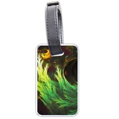 A Seaweed s Deepdream Of Faded Fractal Fall Colors Luggage Tags (one Side)  by jayaprime
