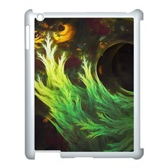 A Seaweed s Deepdream Of Faded Fractal Fall Colors Apple Ipad 3/4 Case (white) by jayaprime